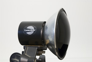 UV Forensic reflector fitted to Lumedyne